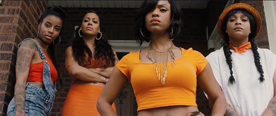 Michelle Mitchenor (second from right) in Chi-Raq