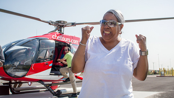 One Dream: Darlene on a helicopter ride
