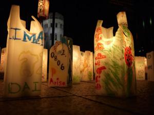 Hiroshima candles