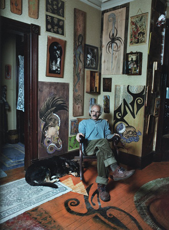Thom DeVita in his living room in Newburgh, NY, 1994