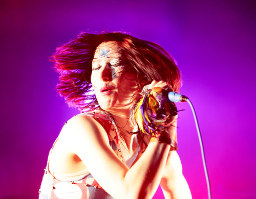 Karen O of the Yeah Yeah Yeahs at the Aragon Ballroom