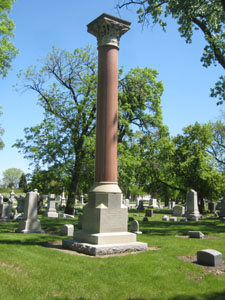 Reed Dankmar Adler grave column Chicago