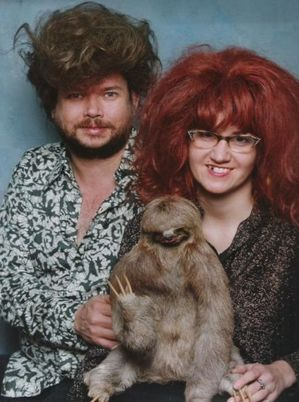 sloth family portrait