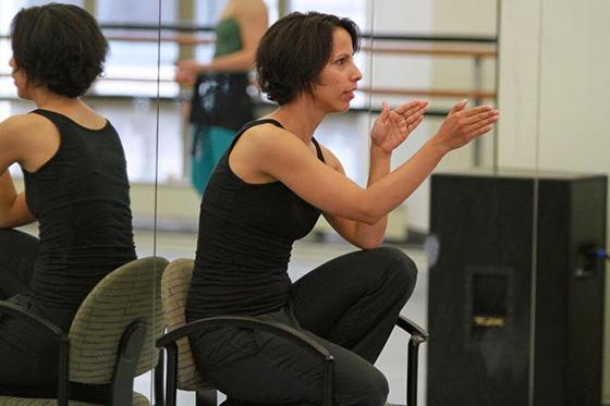 Annabelle Lopez Ochoa choreographing BalletX.