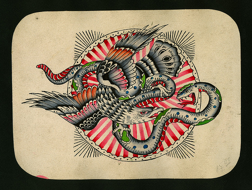 Amund Dietzel tattoo flash