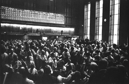 Chicago Board of Trade, 1971, by Pat Arnow