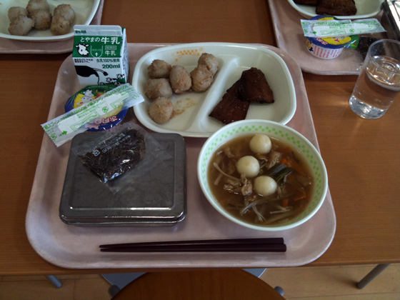 Japanese school lunch