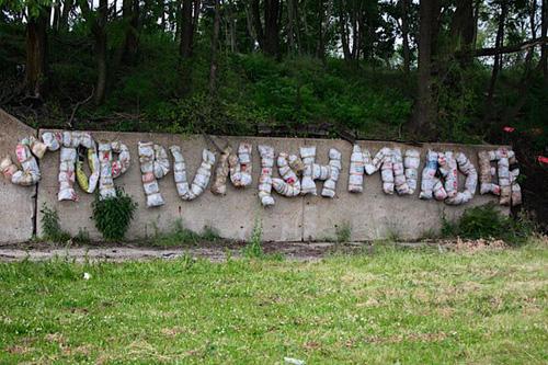 Lindblom installation street art