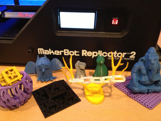 items printed at the Chicago Public Library Maker Lab
