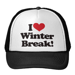 I Love Winter Break hat