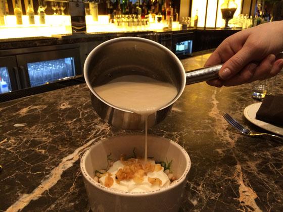 Cicchetti White Bean with Speck Crème soup