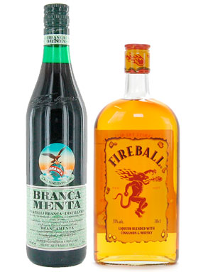 fernet branca and fireball whiskey