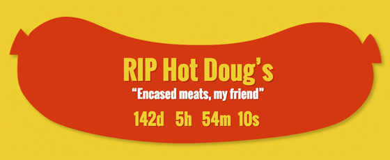hotdogs.com Hot Doug's countdown clock