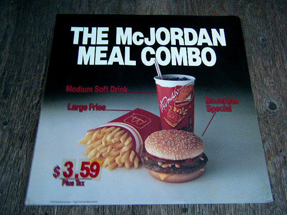 McDonalds McJordan Meal