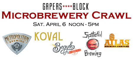 Gapers Block Microbrewery Crawl - April 6, 2013