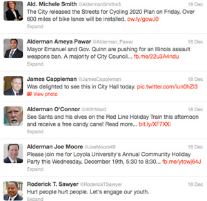 Chicago aldermen tweets