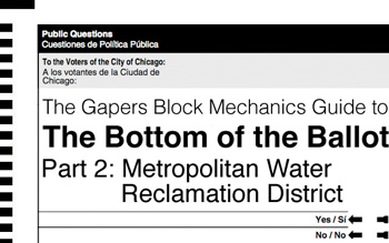 bottom of the ballot - Chicago Metropolitan Water Reclamation District MWRD