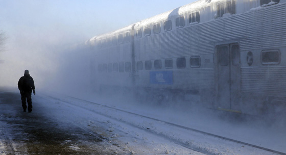 Metra in winter