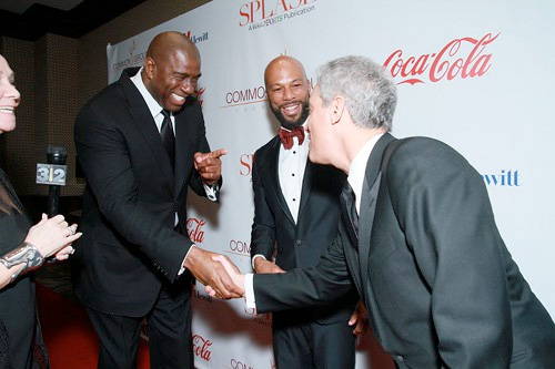 Magic Johnson, Common & Rahm Emanuel