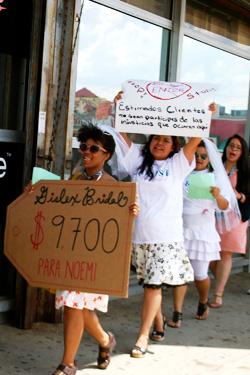 gislex bridal protest