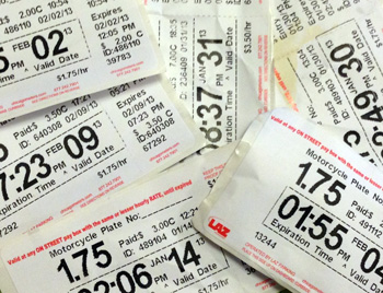 Chicago parking meter receipts 
