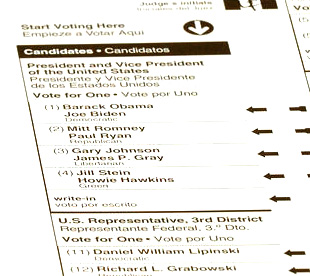 write-in ballot