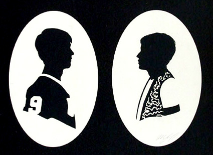 Olly Moss - Ferris & Cameron paper cut