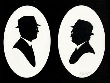 Olly Moss - Jake & Elwood paper cut