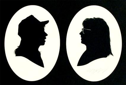 Olly Moss - Wayne & Garth paper cut