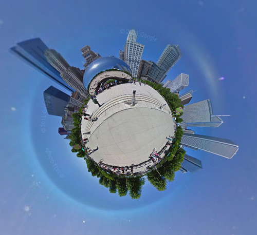 streetview panorama chicago bean cloudgate