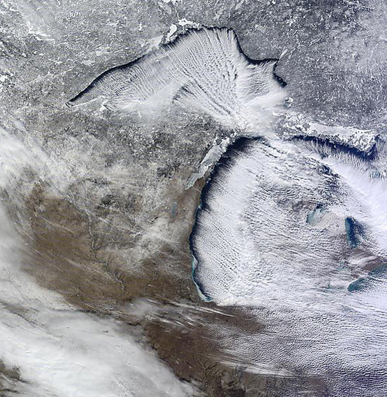 great lakes cold lake effect