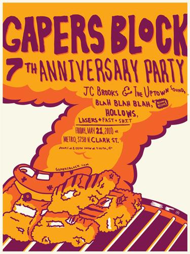 Gapers Block silkscreen poster Mig Reyes JoeVW