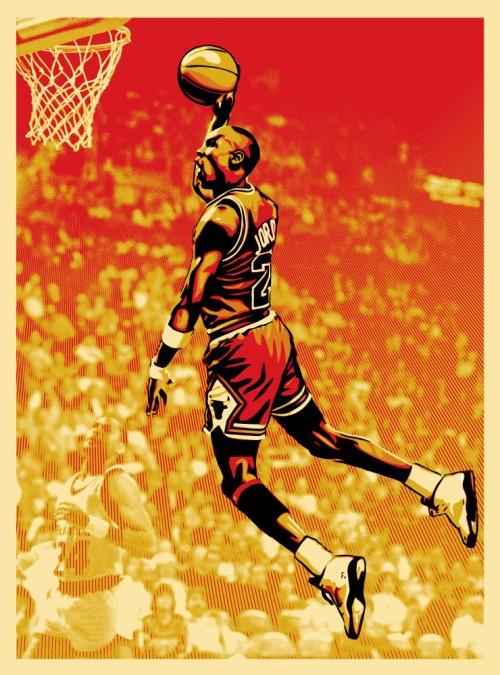 MJ Michael Jordan Obey Shepard Fairey