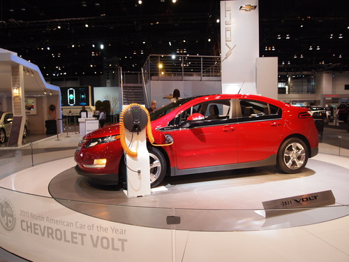 Chevy Volt and Charging Station