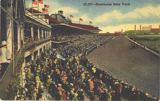 hawthorne racecourse postcard