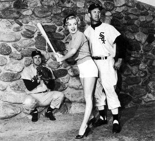 marilyn monroe white sox batting
