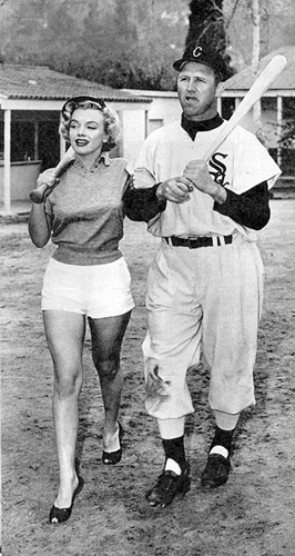 marilyn monroe joe dobson white sox