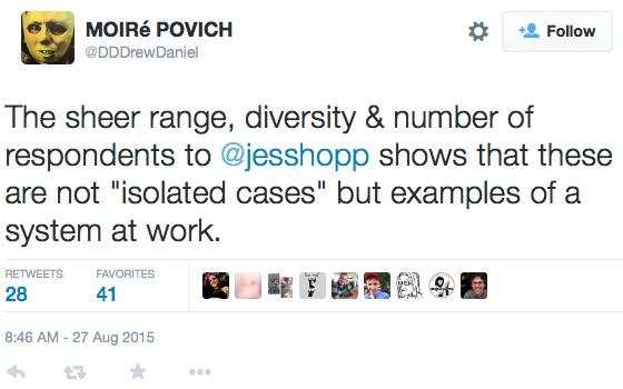 Moiré Povitch response tweet