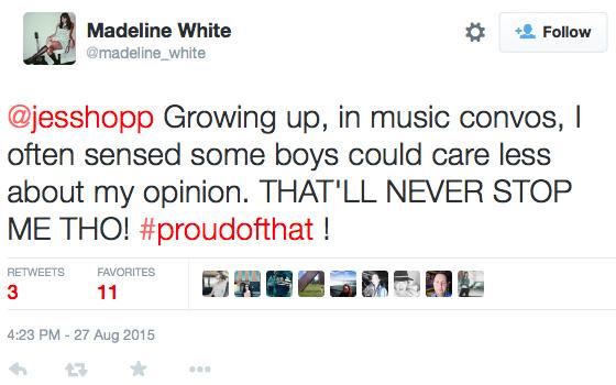 Madeleine White response to Jessica Hopper